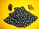 Czarna spódniczka w grochy starsza kolekcja
