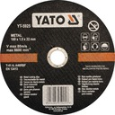 Tarcza do cięcia metalu YATO 125x1,2x22 - 5 SZTUK