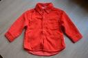 Koszula sztruksowa czerwona święta jak NOWA r. 74