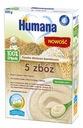 Humana 100% Organic Kaszka bezmleczna 5 zbóż 200g