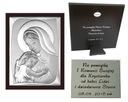 OBRAZEK srebrny Matka Boska Ślub Chrzest 11x15