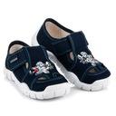 DOMOWE BUCIKI NA RZEP 33 niebieskie buty wygodne