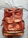 Brązowy skórzany plecak- pamiątka z Indii