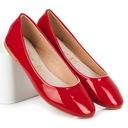LAKIEROWANE BALERINY 36 czerwień super obuwie