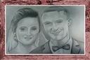 Artystyczny portret ślubny, para, format A3 ołówek