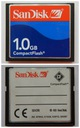 karta Compact Flash 1 GB SanDisk -- NAJLEPSZA!!!