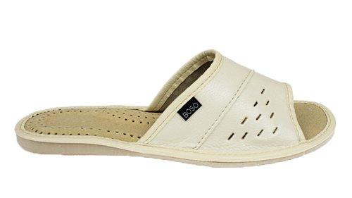 95968438 Pantofle kapcie damskie BOSO 2058-2 klapki beż 37 7598271021 ...