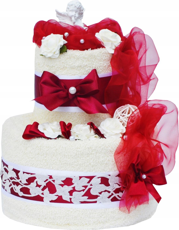 Tort Z 2 Ręczników Prezent Na ślub Rocznicę ślubu 6839190334