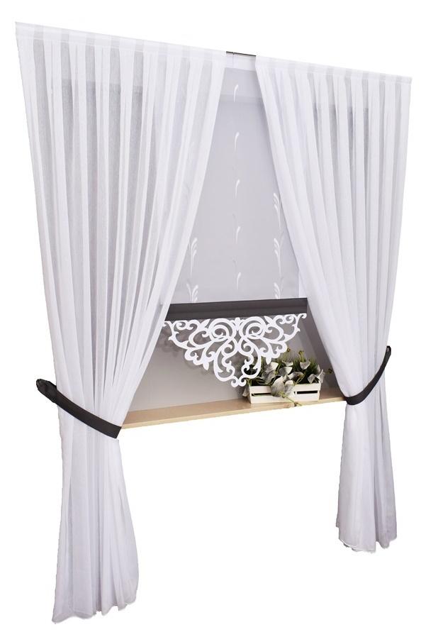 Zestaw Firan Paula I Ekrany Panele Ażury 150 220cm