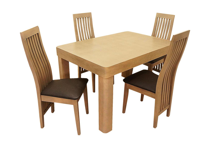 Stół Rozkładany Borys 4 Krzesła Skórzane Salon