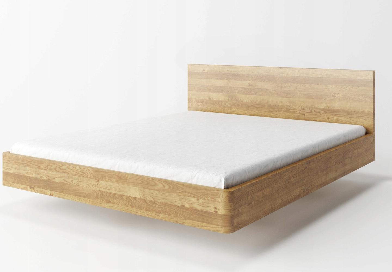Dębowe łóżko Lewitujące Laos 140x200 Naturalne