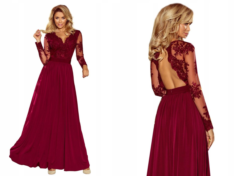 feaae3d9fbf1 ELEGANCKA MAXI Sukienka Suknia NA BAL 213-2 S 36 7598925378 - Allegro.pl