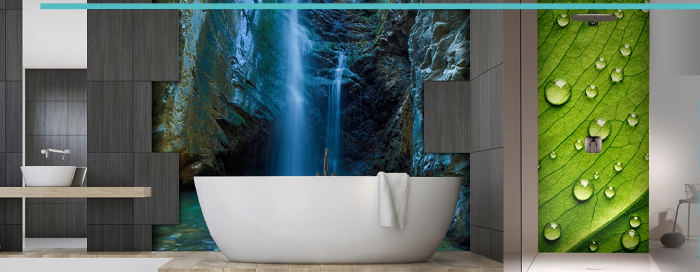 Panele Szklane Do łazienki Wodospad Na Wymiar