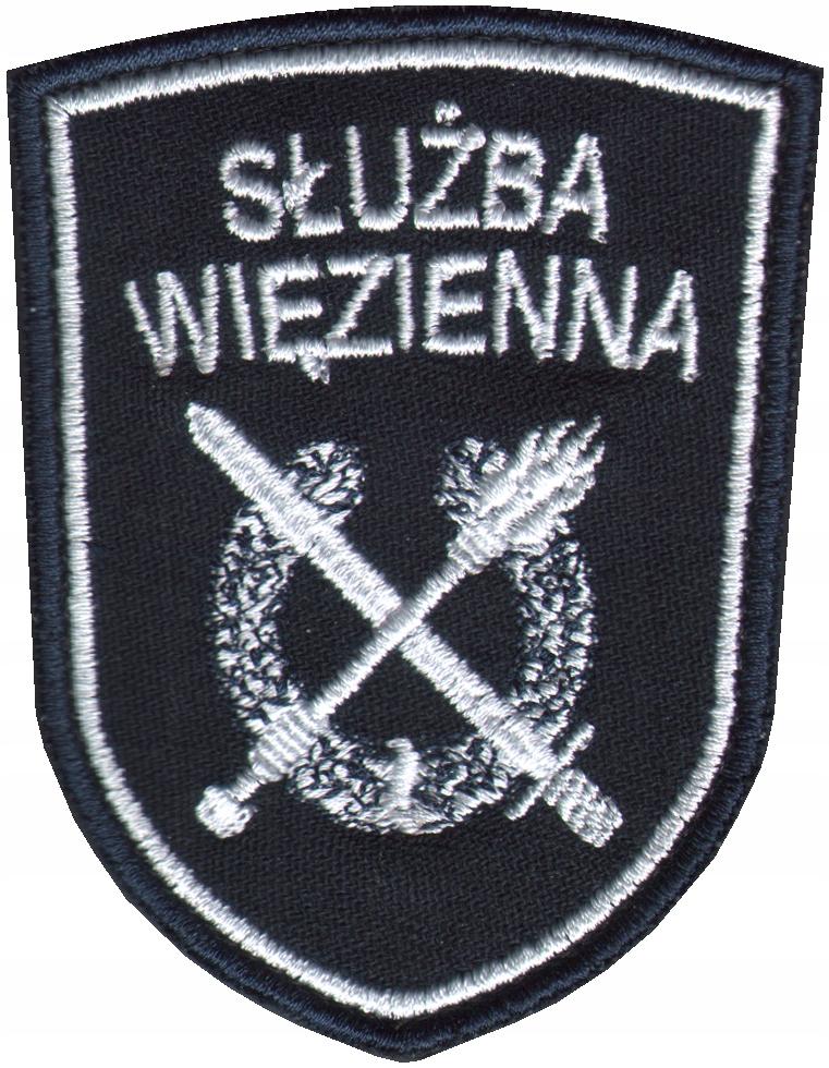 b789a1db4c3774 SW Służba Więzienna HERB Tarcza Logo Haft Naszywka 7333981915 - Allegro.pl