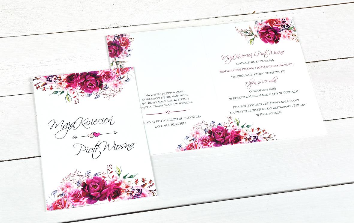 Zaproszenia Na ślub Piękne I Nowoczesne Składane 6830068257