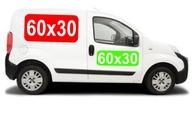 Reklama magnetyczna na samochód MAGNES 60x30 0,8mm