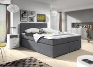 Łóżko tapicerowane 160x200 pojemnikiem materacem