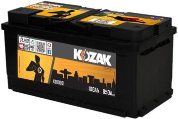 акумулятор kozak ko1000 100ah/890a [sae] 100ah - фото