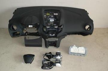 fiesta mk7 liftczarn торпеда консоль airbag ремни оригинал - фото