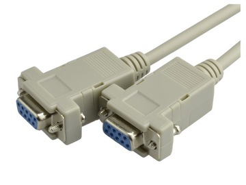 Kabel przewód NULL MODEM DSUB 9pin RS232 COM 3m доставка товаров из Польши и Allegro на русском
