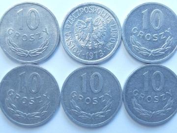 Монета 10 гр 1973 году красивая доставка товаров из Польши и Allegro на русском