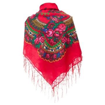 БОЛЬШОЙ Плед ГОРСКАЯ шарф фолк народная ШАРФ доставка товаров из Польши и Allegro на русском