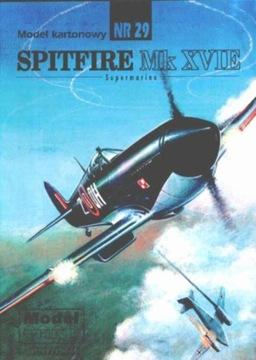 Model Card № 29 SPITFIRE Mk. XVIE доставка товаров из Польши и Allegro на русском