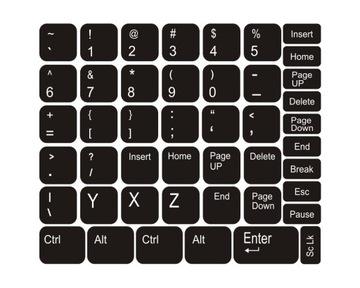 Наклейки на клавиатуру для ноутбука черные доставка товаров из Польши и Allegro на русском