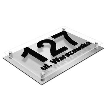 Табличка адресная Табличка дом НОМЕР 3D Алюминий доставка товаров из Польши и Allegro на русском