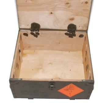 Ящик с боеприпасами военная фанера 38x34x19  доставка товаров из Польши и Allegro на русском