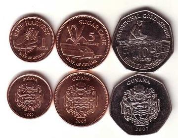 ГАЙАНА набор 3 монеты доставка товаров из Польши и Allegro на русском