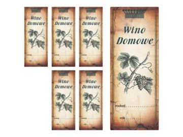 Этикетки Наклейки на Вино, Настойки, Самогон, Сидр 11x4 доставка товаров из Польши и Allegro на русском