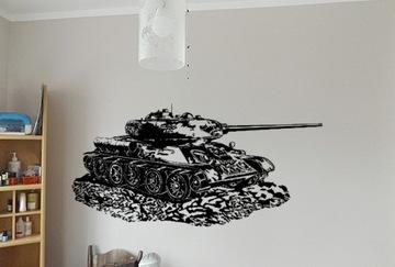 Наклейка Т34 танк легенда 130x50 см на стену 03 доставка товаров из Польши и Allegro на русском