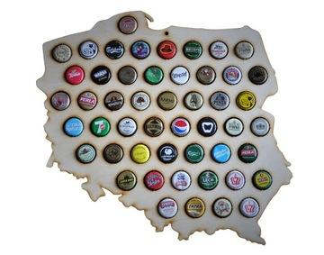 ПОЛЬША карта на колпачки beer cap map пивном мини доставка товаров из Польши и Allegro на русском