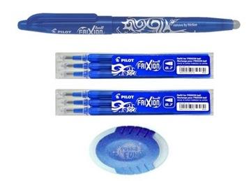 Ручка PILOT FRIXION 0,7 ścieralny,6 картриджей,ластик доставка товаров из Польши и Allegro на русском