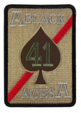 BLACK ACES 41 Полоса ТЕРМО моральный дух patch ТУЗ ПИК доставка товаров из Польши и Allegro на русском