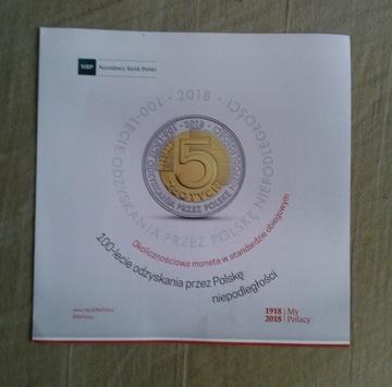 Папка для монет 5 злотых - НЕЗАВИСИМОСТЬ - 100 штук доставка товаров из Польши и Allegro на русском