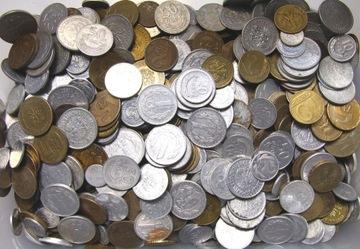 Польские монеты PRL за килограмм - набор MIX 1 кг доставка товаров из Польши и Allegro на русском