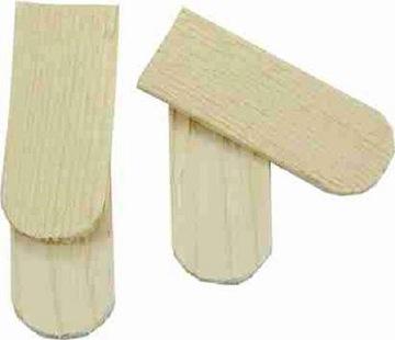 Okrúhle drevené strešné dlaždice pre postieľky- 200ks 5x2cm