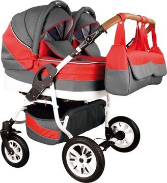 Detský vozík pre dvojčatá 3v1 + zdarma!