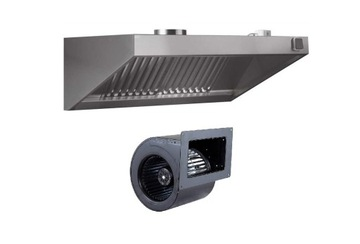 Gastronómia Hood 2000x700x400 Turbine Filtre