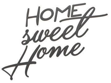 Drevený 3D nápis na stenu HOME Sweet Home
