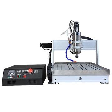 CNC frézovací stroj 6040 4D USB 2,2KW + vodný systém