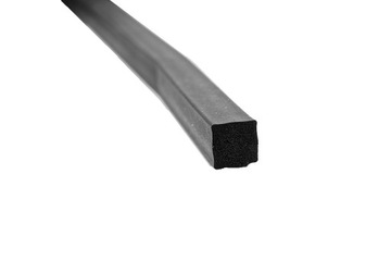 Gumové tesnenie Porézna pena 10x10mm - GW63