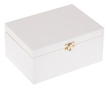 Drevený box 22x16x10.5 biela ekologická skrinka