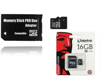 Memory Stick Pro Duo Card 16 GB Sony PSP