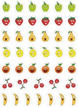 Motivačné nálepky pre deti - ovocie 42 ks