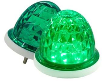 LED svietidlo 12 SMD 2835 2V 24V Zelený indikátor