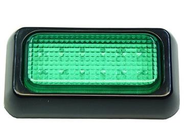 LAMP 12 LED S.FLUX 10X6 cm Zelená 12V 24V silná