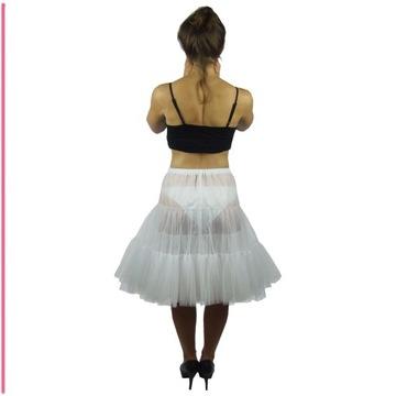 Mohito Rozkloszowana Biała Spódnica Pikowana Pin Up z Koła M